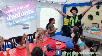 David Gabriel, magie pour enfants, anniversaire, Réunion, Saint-Denis